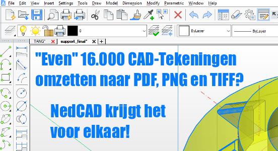 NedCAD's expertise: verwerken van 16.000 CAD-tekeningen binnen één week